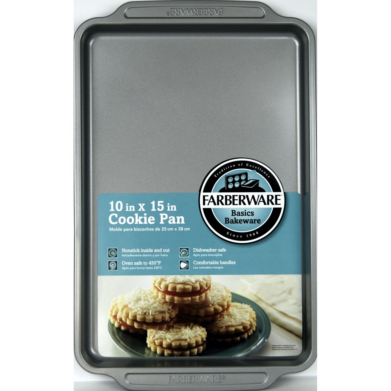 "Farberware Cookie Sheet 10"" x 15"", Nonstick Cookie Pan, Dish"
