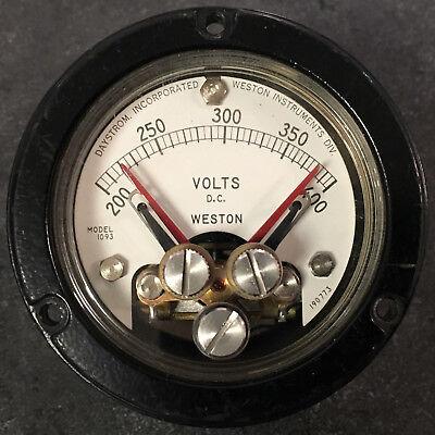 Weston Model 1093 200 To 400 Vdc Panel Meter W Adjustable Set Points Simpson
