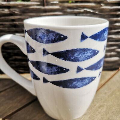 llan Kaffeebecher Tasse 300ml Blauweiß Kaffeepot Fisch (Fisch-tasse)