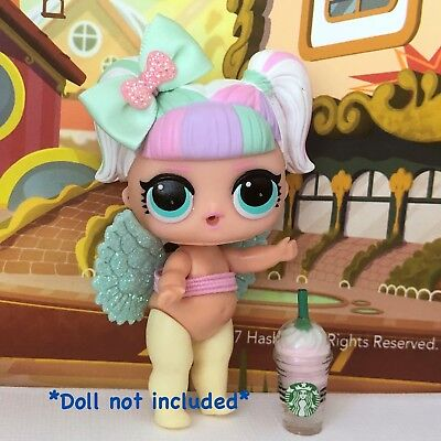 3 PC Custom LOL Surprise Accessories Bow Starbucks Angel Fairy Wing Clothes Lot](Fairy Custome)