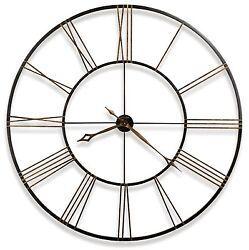 625-406 POSTEMA 49 LARGE WROUGHT IRON WALL CLOCK - HOWARD MILLER