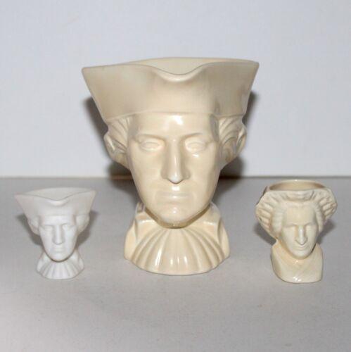 Lot 3 mugs New York World's Fair 1939 George Martha Washington American Potter