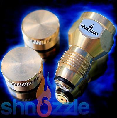 Refill 1 LB Propane Adapter + 2x BRASS CAPS small tank cylinder Lp Gas Heater