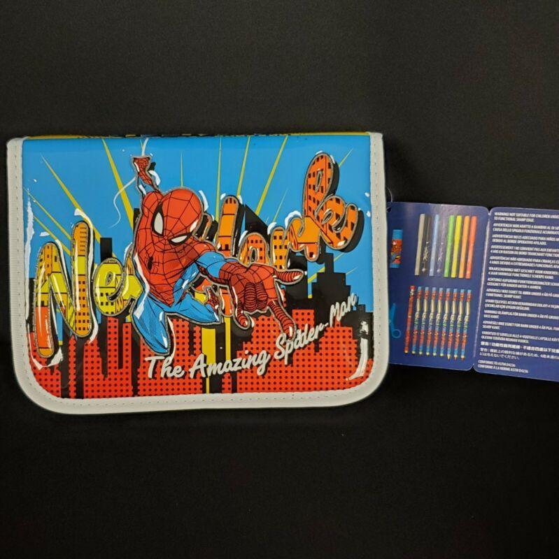 Disney Marvel Amazing Spider-Man Zip-Up Stationery Art Kit School Supplies Gift
