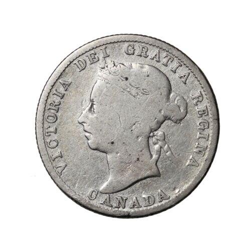 1886 Canada Silver 25 Cents Quarter Queen Victoria British Coin km#5 Key Date