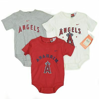 Anaheim 3 Piece Set - 3 PIECE SET NIKE ANGELS NEW BORN BABY CREEPER 3-6 MONTHS ANAHEIM LOS ANGELES MLB
