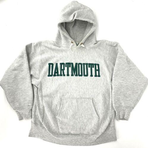 Vintage Champion Reverse Weave Hooded Sweatshirt Dartmouth Warm Up Crew USA