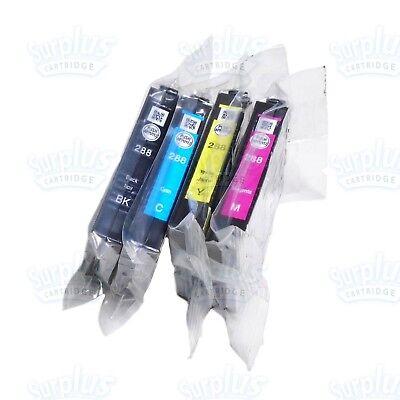 4 Genuine Epson 288 Black+Color Ink XP330 XP430 XP434 XP435 XP446 (NOT Initial)