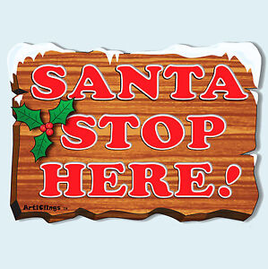 Santa-Stop-Here-Sign-Vinyl-Window-Sticker-Snowflake-Clings-Christmas-Decorations
