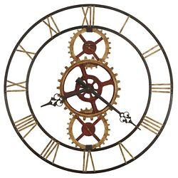 HOWARD MILLER -625-645HANNES OVERSIZED METAL WALL CLOCK  49 DIAMETER 625645
