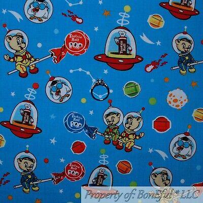 BonEful FABRIC Cotton Quilt Blue Sky Space Tootsie Roll Candy Lollipop Pig SCRAP](Space Lollipops)