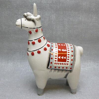Formano Lama Alpaka rot weiß  Weihnachten Winter Deko Geschenk