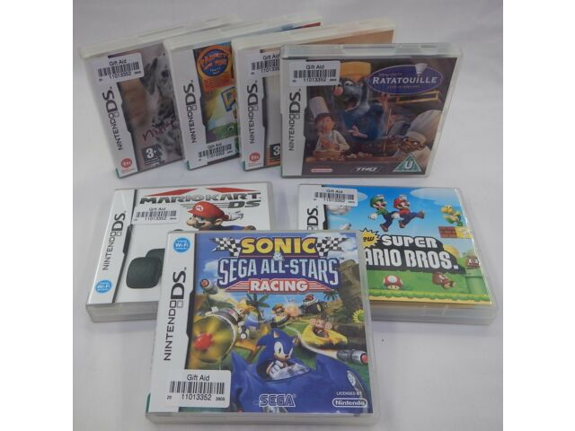 7 Nintendo DS Games inc New Super Mario Bros & Sonic & Sega All-Stars Racing