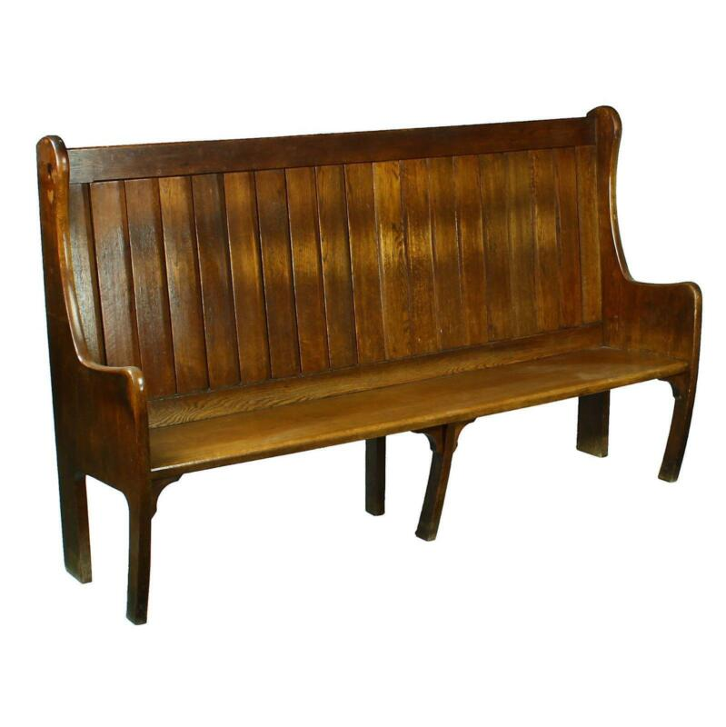 Oak Church Pew Antiques Ebay