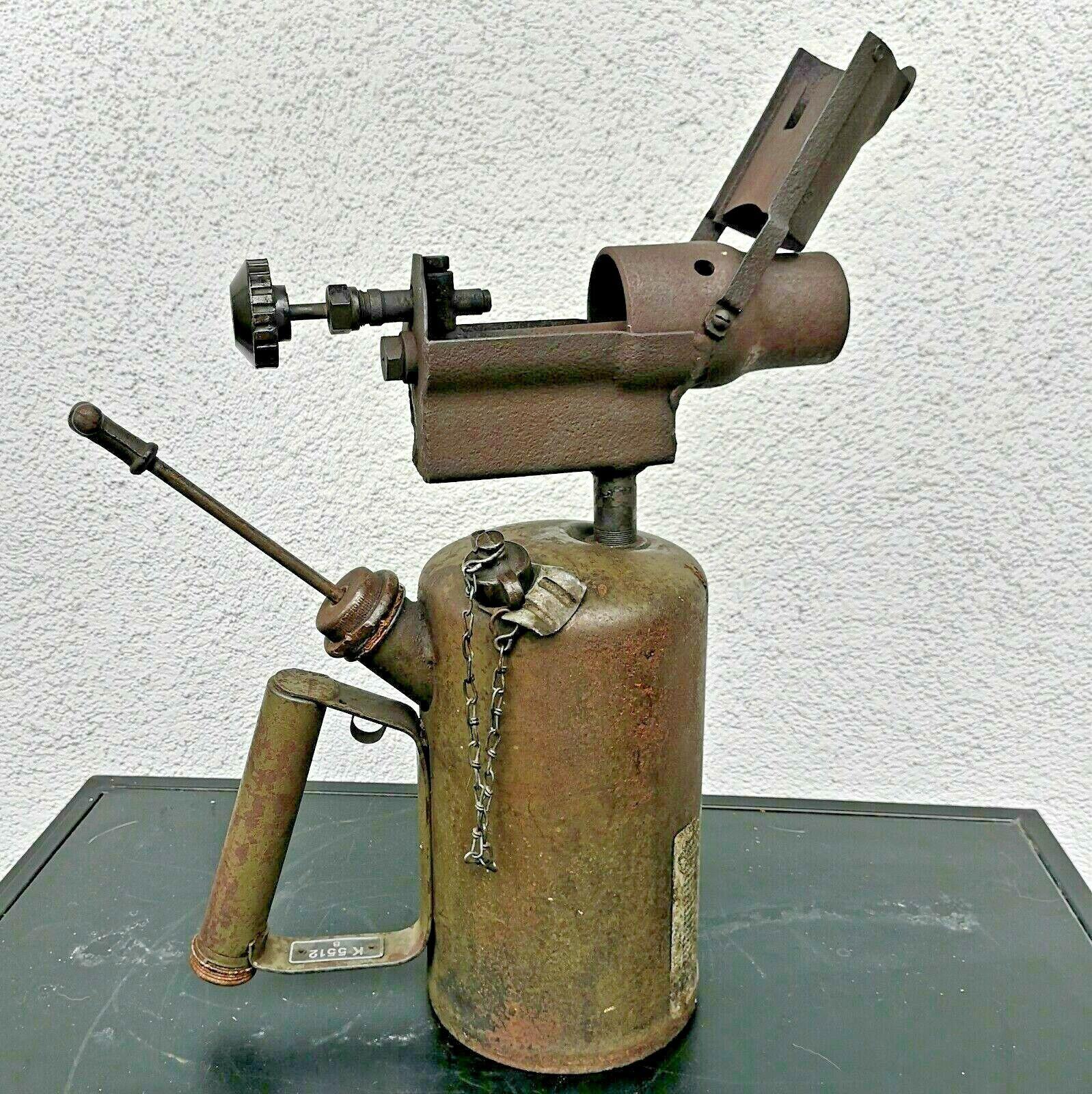 Sehr große, alte Lötlampe BenzinLötlampe Vintage 100 Original