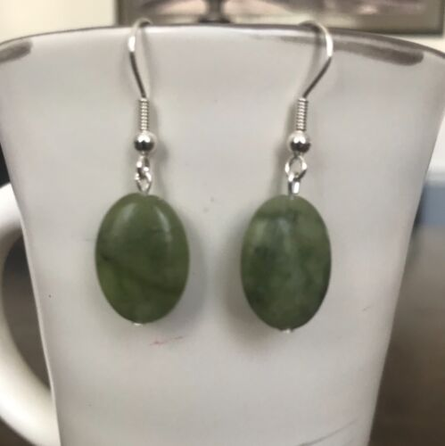 Connemara Marble Sterling Silver Dangle Earrings by CurlanceCreations