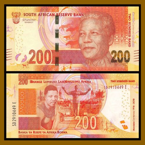 South Africa 200 Rand, 2018 P-New Young Mandela Centenary Comm. Uncirculated