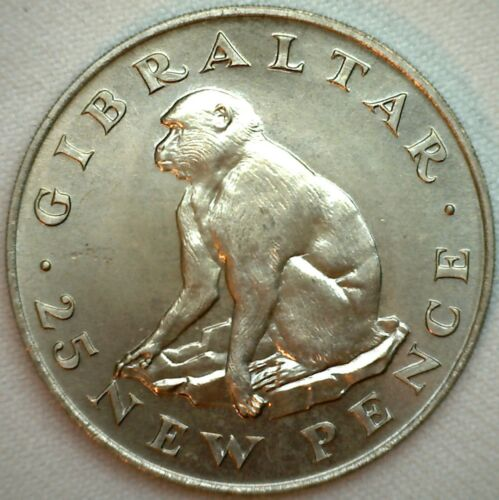 1971 Gibraltar 25 New Pence Copper/Nickel Coin KM #5 Uncirculated Large Coin K47