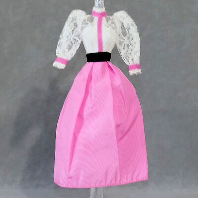 Barbie 1980s Fashion Clothes Dress Vintage ANGEL FACE Pink Lace USA SELLER