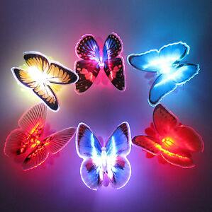 4 x LED Schmetterling Butterfly Farbwechsel RGB Nachtlicht Party Beleuchtung