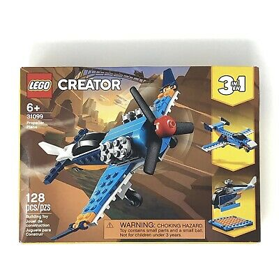 Lego Creator 3 in 1 Propeller Plane 31099 Building Kit 128 Pieces New