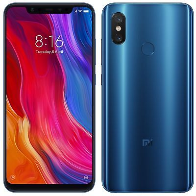 "Xiaomi Mi 8 M8 64GB Blue (FACTORY UNLOCKED) 6.21"" 6GB Ram Dual Sim Global Model"
