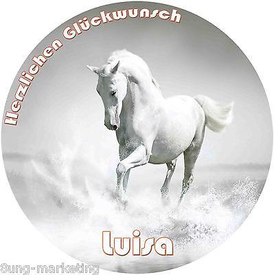20 und 28 cm runder Tortenaufleger Pferd   Fototorte Zuckerbild Geburtstag