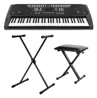 Teclado Electrico 61 Teclas Piano Digitale Sintetizador Set Soporte y Banqueta