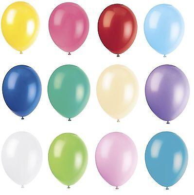 100 X Latex PLAIN BALOON BALLONS helium BALLOONS Quality Party Birthday Wedding