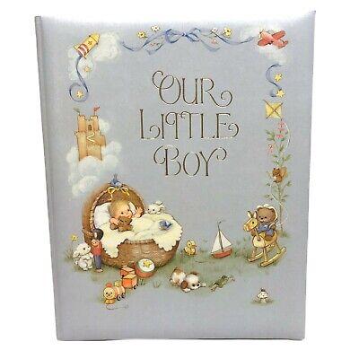 """Vintage Hallmark Baby Book """"Our Little Boy"""" Keepsake Album Scrapbook NEW Unused"""
