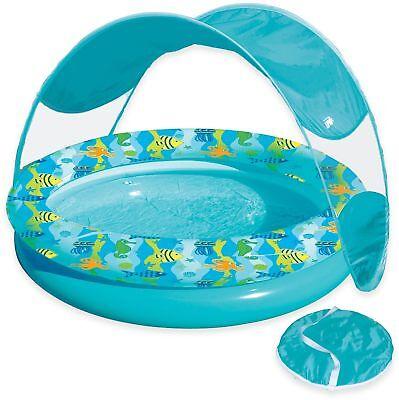 Kids Water Fun Play Beachy Inflatable Tot Sunshade Pool w Ca
