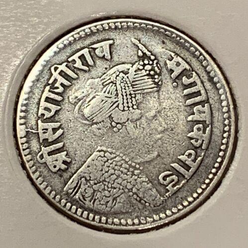 INDIA BARODA 4 annas VS1949 silver scarce coin