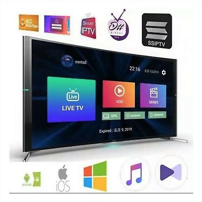 P*TV 12 Mois Abonnement M3U SMART TV MAG Xtream