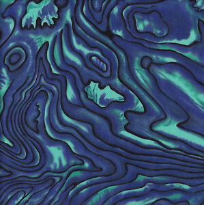 New Zealand Paua Shell Blue Green NZ Quilt Fabric Craft FQ or By The Metre NEW