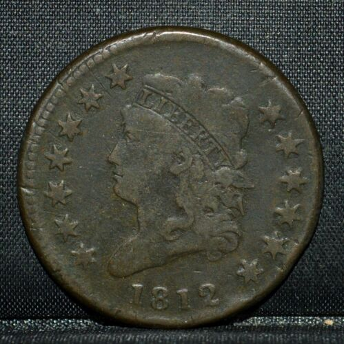 1812 CLASSIC HEAD LARGE CENT ✪ F FINE ✪ 1C LARGE DATE L@@K NOW ◢TRUSTED◣
