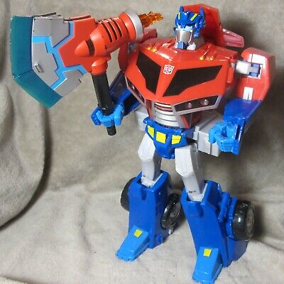 Transformers Animated Roll Out Optimus Prime Complete Supreme Leader - SOUND!!!!