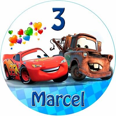 naufleger Disney Pixar Cars Geburtstag Tortenbild (88) (Cars Geburtstag)