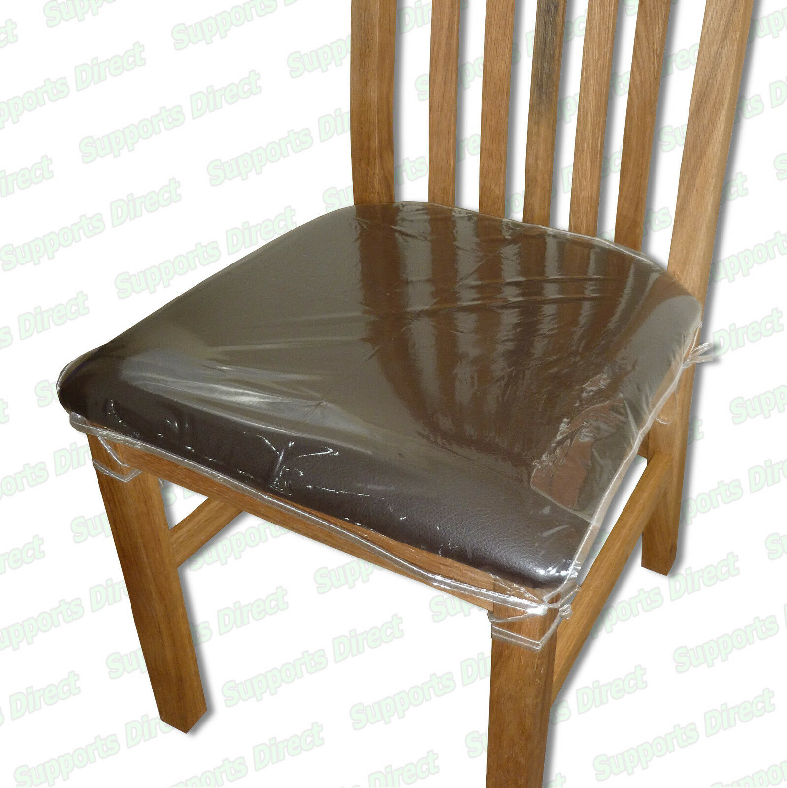 Strong dining chair protectors clear plastic cushion seat for Dining room sofa seating