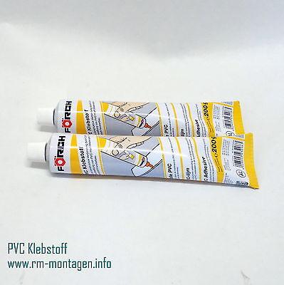 PVC-Klebstoff 180g transparent Kunststoffkleber Kaltschweißmittel 2 Stck im Set