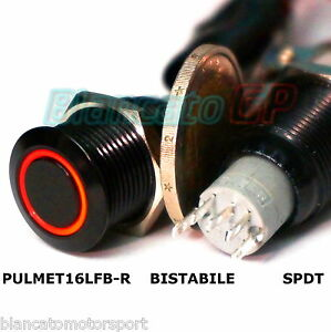 INTERRUTTORE-a-PULSANTE-FLAT-SPDT-LED-ROSSO-NERO-waterproof-auto-moto-camper-12V