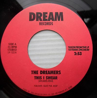 DREAMERS doowop 45 from the 80's THIS I SWEAR b/w LITTLE GIRL mint minus  F1350](Girls From The 80s)
