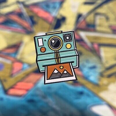 Turquoise Polaroid Retro Camera Enamel Pin Badge, A Great Gift For Vsco...