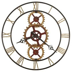 625-645  OVERSIZED  WROUGHT IRON WALL CLOCK HOWARD MILLER HANNES  625645