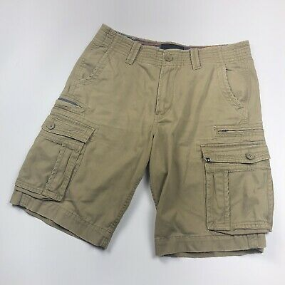 Mens HURLEY Beige Cargo Shorts with Pockets - Size W32