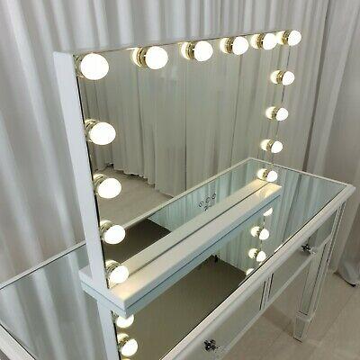 Hollywood mirror FRAME-LESS 55x45CM PRO GRADE CRYSTAL makeup LED LIGHTS 7seas®