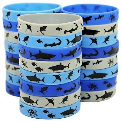 Shark Party Favors - Wristbands for Awesome! Shark Themed Parties - Pack of 24!](Themes For Party)