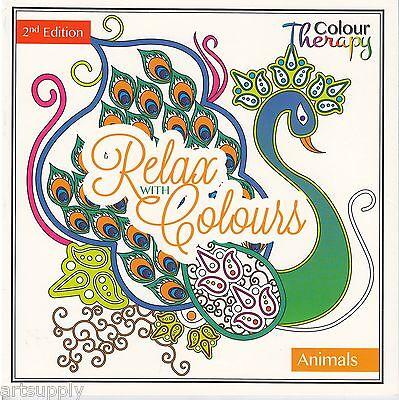 Colour Therapy Anti-Stress Adult Colouring Books/60 Designs Animal Ed 2/Zen Art