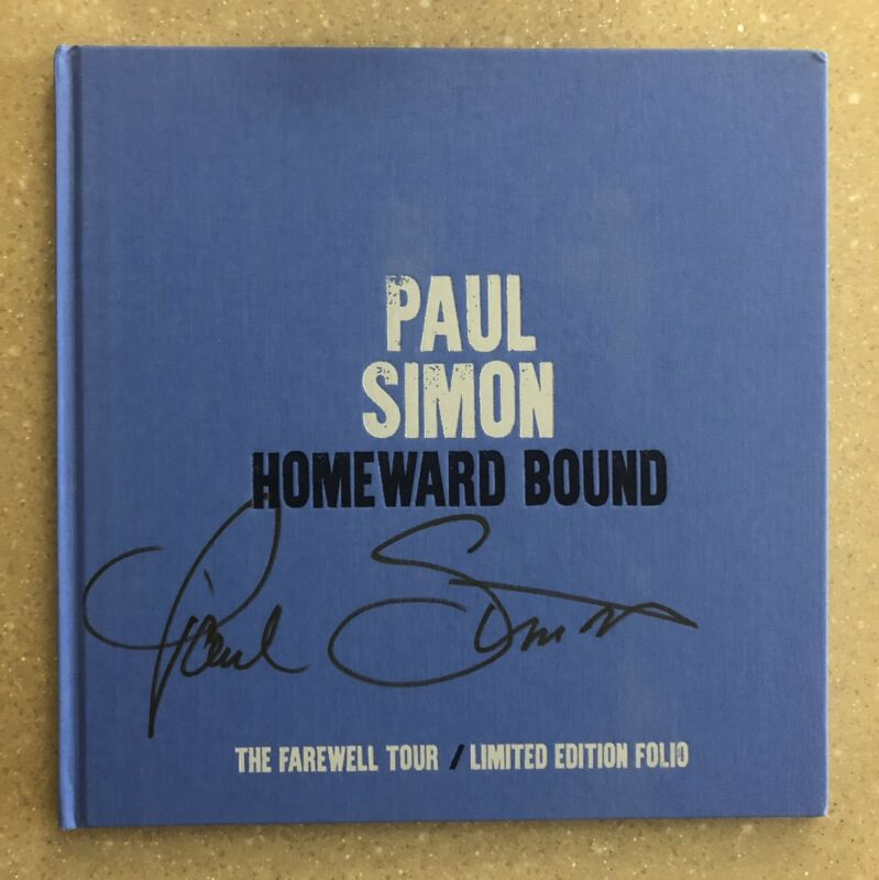Paul Simon 2018 Homeward Bound Autographed Tour Book - Only 200 in Existence!