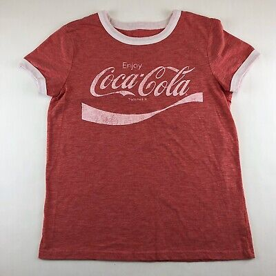 Coca Cola Womens Size XS Red Graphic T-Shirt Short Sleeve 'Enjoy Coca Cola'
