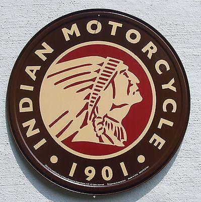 Indian Motorrad USA Händler Klassik Motorcycle Logo Metall Schild